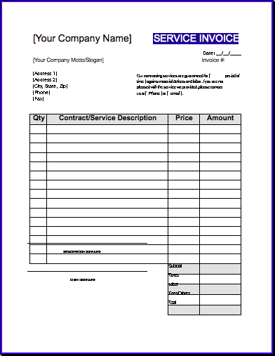 sample roofing invoice template, Invoice templates
