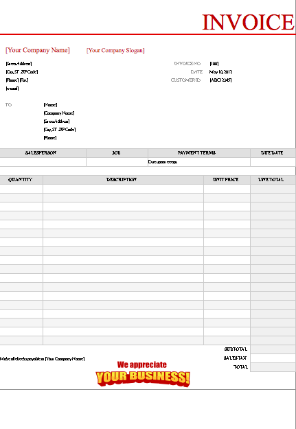 red-invoice-template
