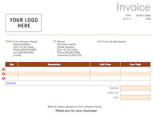 Free Invoice Templates For Word, Excel, Open Office | Invoiceberry ...